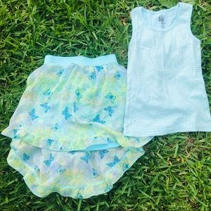 2 PIECE GIRLS SKIRT SET     PSW1